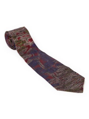 90s Purple Silk Tie