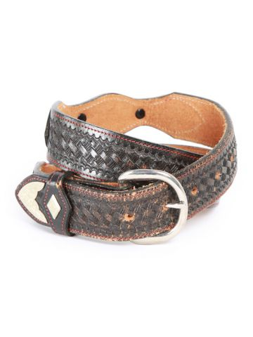 Vintage Brown Patterned Western Belt - 38'